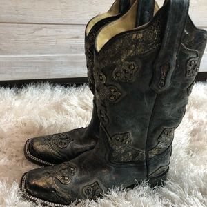 Black accented Corral Boots